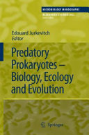 Predatory Prokaryotes Pdf/ePub eBook