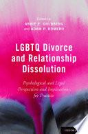 Lgbtq Divorce and Relationship Dissolution Book