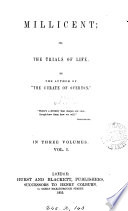 Millicent  or  The trials of life  by the author of  The curate of Overton