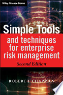 """Simple Tools and Techniques for Enterprise Risk Management"" by Robert J. Chapman"