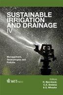 Sustainable Irrigation and Drainage IV