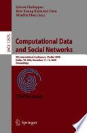 Computational Data and Social Networks