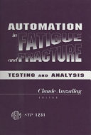Automation in Fatigue and Fracture