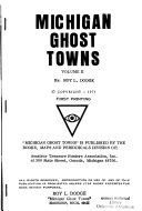 Michigan Ghost Towns