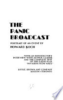 The Panic Broadcast; Portrait of an Event