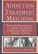 Addiction Treatment Matching