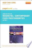 Contemporary Fixed Prosthodontics - Pageburst E-Book on Kno (Retail Access Card)