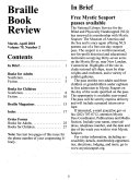 Braille Book Review Book PDF