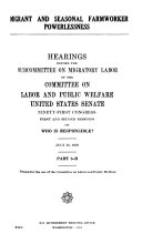 Hearings, Reports and Prints of the Senate Committee on ...