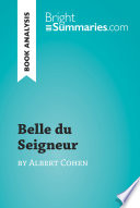 Belle Du Seigneur By Albert Cohen Book Analysis  Book