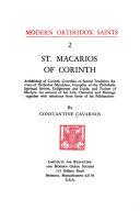 St  Macarios of Corinth  Archbishop of Corinth