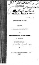 Circular on Steam Mills and Distilleries, Containing a Description of a Patent for the Use of the Scape Steam of an Engine in Distilling, Etc