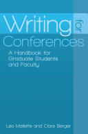 Writing for Conferences: A Handbook for Graduate Students and Faculty Pdf/ePub eBook