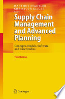 Supply Chain Management And Advanced Planning Book PDF
