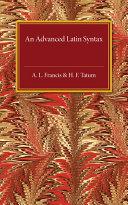 An Advanced Latin Syntax