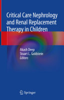 Critical Care Nephrology and Renal Replacement Therapy in Children Pdf/ePub eBook