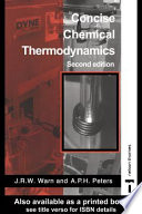 Concise Chemical Thermodynamics  2nd Edition