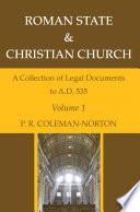 Roman State   Christian Church Volume 1 Book