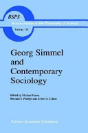 Georg Simmel and Contemporary Sociology