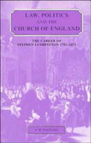 Law, Politics and the Church of England: The Career of Stephen ...