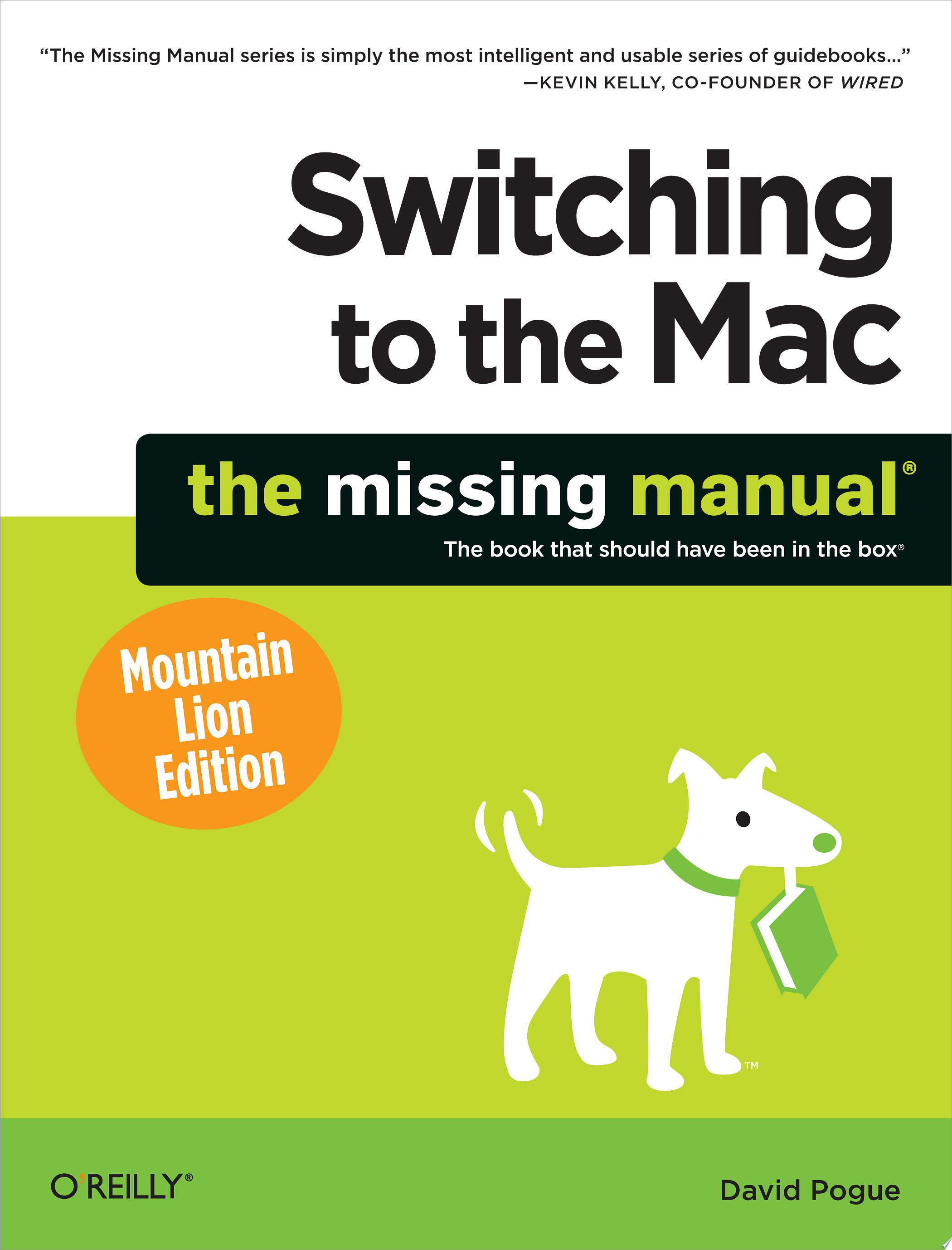 Switching to the Mac  The Missing Manual  Mountain Lion Edition