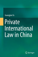 Pdf Private International Law in China Telecharger