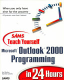 Sams Teach Yourself Outlook 2000 Programming in 24 Hours