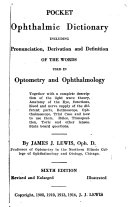 Pocket Ophthalmic Dictionary