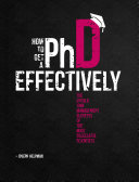 How to Get a PhD Effectively