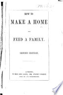 How to make a Home and feed a Family  Second edition
