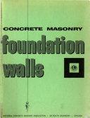 Concrete Masonry Foundation Walls Book
