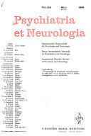 Psychiatr Neurol  Basel