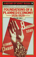 A History of Soviet Russia  4 Foundations of a PlannedEconomy 1926 1929