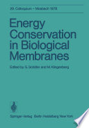 Energy Conservation in Biological Membranes
