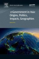 e Government in Asia Origins  Politics  Impacts  Geographies