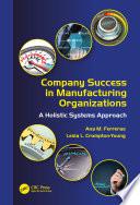 Company Success in Manufacturing Organizations Book