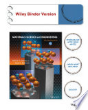 Materials Science and Engineering an Introduction 9E Binder Ready Version + WileyPlus Registration Card