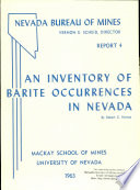R004  An inventory of barite occurrences in Nevada