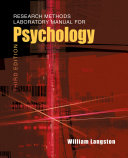 Research Methods Laboratory Manual for Psychology