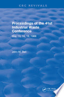 Proceedings of the 41st Industrial Waste Conference May 1986  Purdue University