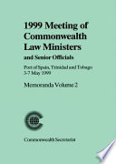 1999 Meeting of Commonwealth Law Ministers and Senior Officials