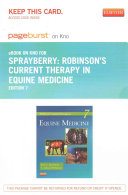 Robinson s Current Therapy in Equine Medicine Pageburst on Kno Access Code