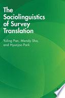The Sociolinguistics of Survey Translation Book