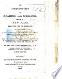 An Introduction To Reading And Spelling A New Edition