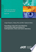 Proceedings of the 2017 Joint Workshop of Fraunhofer IOSB and Institute for Anthropomatics, Vision and Fusion Laboratory