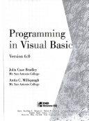Programming in Visual Basic  Version 6 0