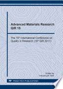 Advanced Materials Research QiR 15