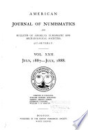 American Journal of Numismatics  and Bulletin of American Numismatic and Arch  ological Societies Book PDF