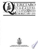 Querétaro en la cultura y las artes: 1989-1991