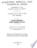 Scientific, Medical, and Technical Books Published in the United States of America